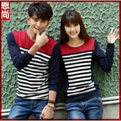 Sweater Charming Maroon Navy - Mantel / Busana / Fashion / Couple / Pasangan / Babyterry / Kasual