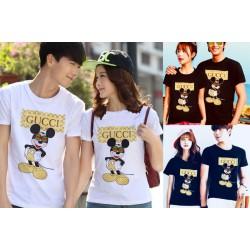 Gucci Mickey - Kaos Couple / Baju Pasangan / Couple Grosir
