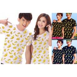 Banana - Baju / Kaos / Oblong / Couple / Pasangan / Kombinasi / Katun Combed