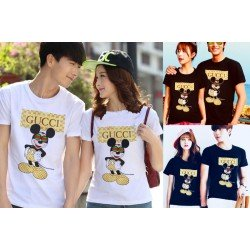Gucci Mickey - Kaos Couple / Baju Pasangan / Couple Grosir
