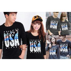 LP Freedom - Baju / Kaos / Oblong / Couple / Pasangan / Kombinasi / Katun Combed