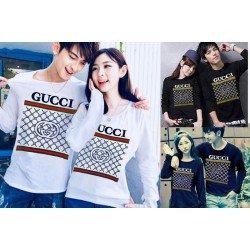 LP Gucci Rantai - Lengan Panjang Couple / Kaos Couple / Baju Pasangan Grosir