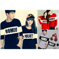 LP Romeo Bold - Baju / Kaos / Oblong / Couple / Pasangan / Kombinasi / Katun Combed