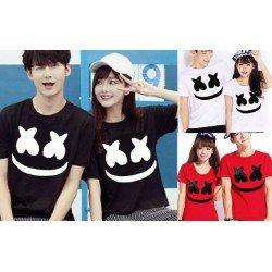 Marshmello Face - Baju / Kaos / Oblong / Couple / Pasangan / Kombinasi / Katun Combed