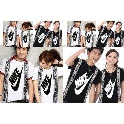 Nike Selendang - Baju / Kaos / Oblong / Couple / Pasangan / Kombinasi / Katun Combed