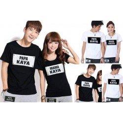 Papa Mama Kaya - Baju / Kaos / Oblong / Couple / Pasangan / Kombinasi / Katun Combed