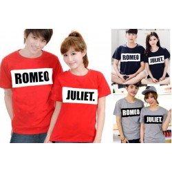 Romeo Bold - Baju / Kaos / Oblong / Couple / Pasangan / Kombinasi / Katun Combed