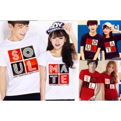 Soulmate Colorful - Kaos Couple / Baju Pasangan / Couple Grosir