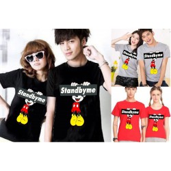 Stand By Me Mickey - Baju / Kaos / Oblong / Couple / Pasangan / Kombinasi / Katun Combed