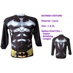 LP Batman Costume - Kaos / Full Print / Thailand / Distro / Unisex / All Size / 3D