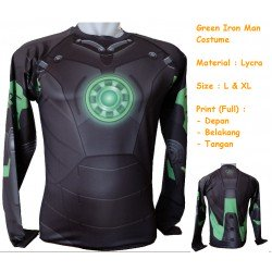 LP Green Iron Man Costume - Kaos / Full Print / Thailand / Distro / Unisex / All Size / 3D