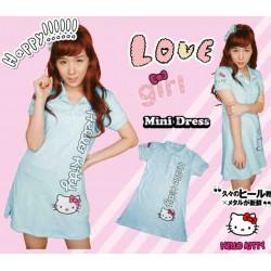 Mini Dress Kitty Baby Blue