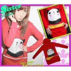 Sweater Hoodie Panda Aplikasi Kantong