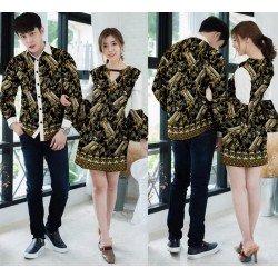 Dress Prada Latte Gold - Dress / Busana / Fashion / Couple / Pasangan / Pesta / Kondangan / Elegan