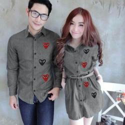Mini Dress Play Abu - Dress Couple / Baju Pasangan / Fashion / Couple