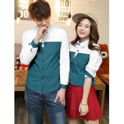 Tona White Green - Baju / Kemeja / Fashion / Couple / Pasangan / Batik / Pesta