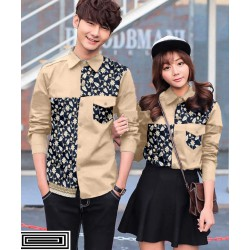 Whily Cream - Baju / Kemeja / Fashion / Couple / Pasangan / Batik / Pesta
