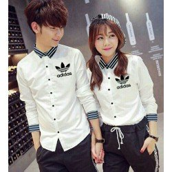 Adidas Mini - Baju / Kemeja / Fashion / Couple / Pasangan / Batik / Pesta