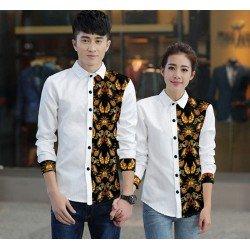 Bori White - Baju / Kemeja / Fashion / Couple / Pasangan / Batik / Pesta