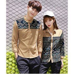 Croba Cream - Baju / Kemeja / Fashion / Couple / Pasangan / Batik / Pesta