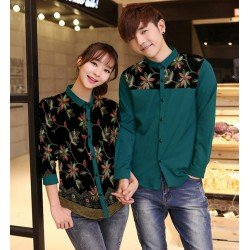 Flower Lolita Tosca - Baju / Kemeja / Fashion / Couple / Pasangan / Batik / Pesta