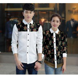 Flower Lolita White - Baju / Kemeja / Fashion / Couple / Pasangan / Batik / Pesta