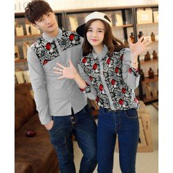 Grina Grey - Baju / Kemeja / Fashion / Couple / Pasangan / Batik / Pesta