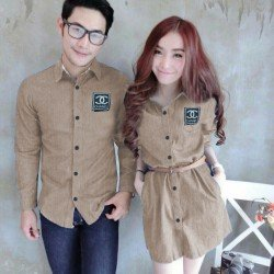 Mini Dress Channel Mocca - Dress Couple / Baju Pasangan / Fashion / Couple