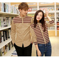 Square Cream - Baju / Kemeja / Fashion / Couple / Pasangan / Pesta / Kasual