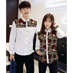 Sunny White - Baju / Kemeja / Fashion / Couple / Pasangan / Batik / Pesta