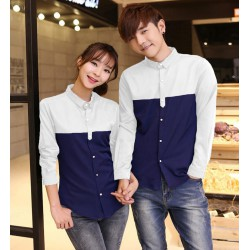 Whina White Navy - Baju / Kemeja / Fashion / Couple / Pasangan / Batik / Pesta