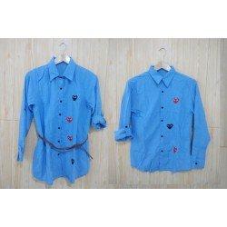 Mini Dress Play Biru Muda - Dress Couple / Baju Pasangan / Fashion / Couple