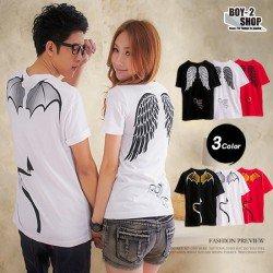 Devil Angel Wing - Kaos Couple / Baju Pasangan / Couple Grosir