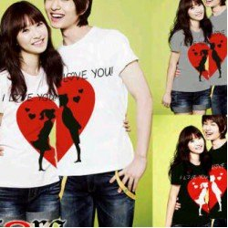 I Love You Bulan - Kaos Couple / Baju Pasangan / Couple Grosir