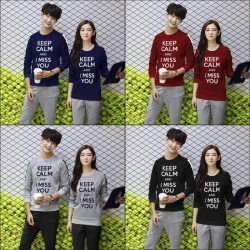 Sweater Keep Calm - Mantel / Busana / Fashion / Couple / Pasangan / Babyterry / Kasual