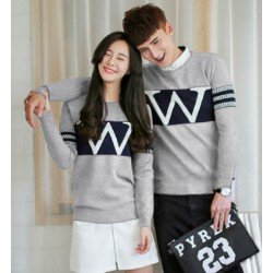 Sweater Wonder Neo Misty Black - Mantel / Busana / Fashion / Couple / Pasangan / Babyterry / Kasual