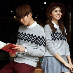 Sweater Zig Zag - Mantel / Busana / Fashion / Couple / Pasangan / Babyterry / Sporty