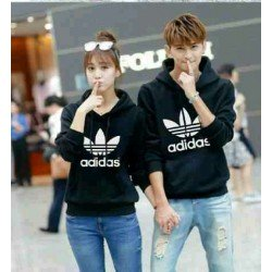 Jumper Adidas Black - Mantel / Busana / Fashion / Couple / Pasangan / Babyterry / Sporty