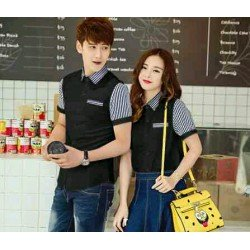 Kitkat Black - Baju / Busana / Kemeja / Fashion / Couple / Pasangan / Kasual