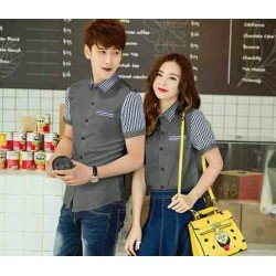 Kitkat Grey - Baju / Busana / Kemeja / Fashion / Couple / Pasangan / Kasual