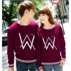 Sweater Alan Walker Rajut Maroon - Mantel / Busana / Fashion / Couple / Pasangan / Babyterry / Kasual