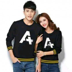 Sweater Alpha Rajut Black Yellow - Mantel / Busana / Fashion / Couple / Pasangan / Babyterry / Kasual