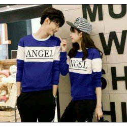 Sweater Angel Benhur White - Mantel / Busana / Fashion / Couple / Pasangan / Babyterry / Kasual