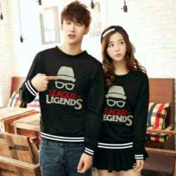 Sweater Legends Black - Mantel / Busana / Fashion / Couple / Pasangan / Babyterry / Kasual