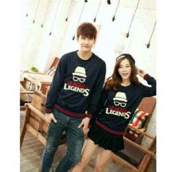 Sweater Legends Navy - Mantel / Busana / Fashion / Couple / Pasangan / Babyterry / Kasual