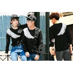 Sweater Sayap Black - Mantel / Busana / Fashion / Couple / Pasangan / Babyterry / Kasual