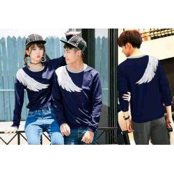 Sweater Sayap Navy - Mantel / Busana / Fashion / Couple / Pasangan / Babyterry / Kasual