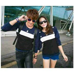 Sweater Star Converse Navy Black - Mantel / Busana / Fashion / Couple / Pasangan / Babyterry / Kasual