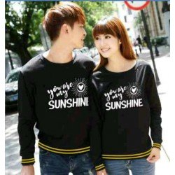 Sweater Sunshine Black - Mantel / Busana / Fashion / Couple / Pasangan / Babyterry / Kasual