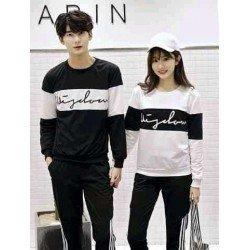 Sweater Wisdom Cross White Black - Mantel / Busana / Fashion / Couple / Pasangan / Babyterry / Sporty